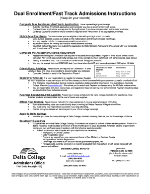 dual enrollment brochure delta college form