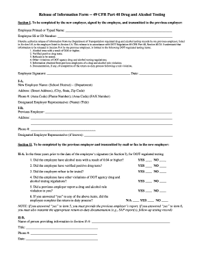 cfr 49 release form