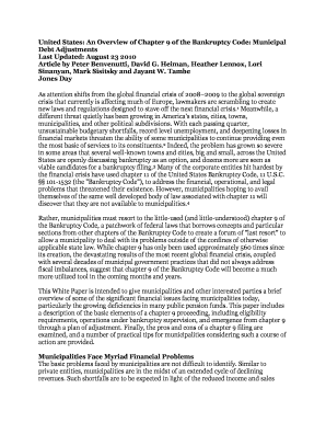 Fillable Online Jones Day white paper on Chapter 9 - Voice of Detroit Fax Email Print - PDFfiller