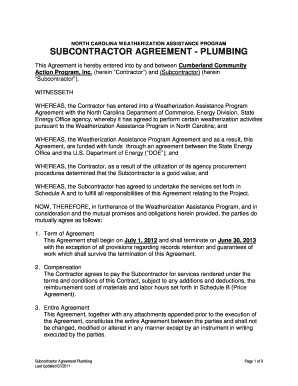 graphic regarding Free Printable Subcontractor Agreement titled 56 Printable Subcontractor Settlement Sorts and Templates
