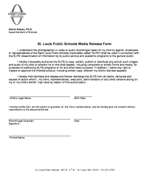 Media Release Form For Schools