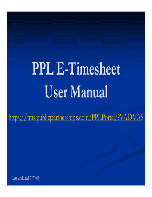 ppl timesheet login Ppl Login - Fill Online, Printable, Fillable, Blank | PDFfiller