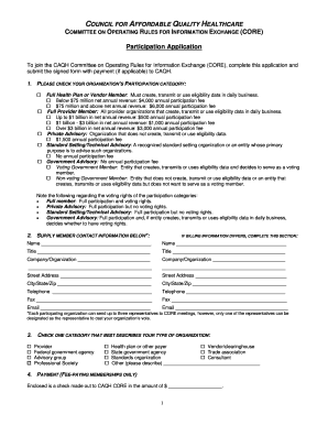 Fillable Online caqh Participant Application Form - CAQH Fax Email ...