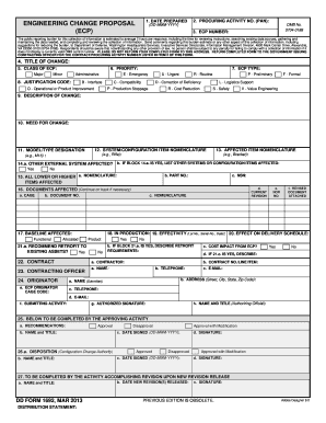 Engineering Change Proposal Form - Fill Online, Printable ...