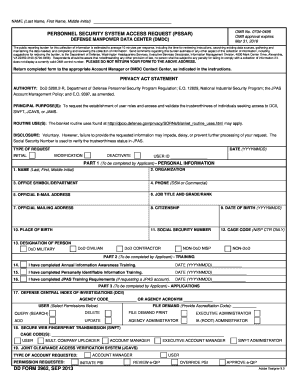 2013 Form DD 2962 Fill Online, Printable, Fillable, Blank - PDFfiller