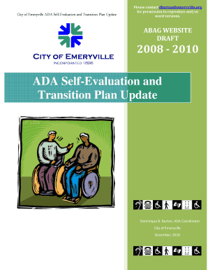 sample ada transition plan form