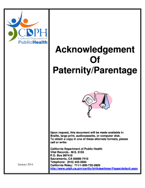 Acknowledgement Of Paternity Form Texas - Fill Online, Printable ...