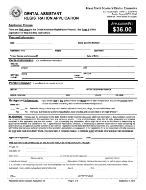 36428221 Job Application Form Dental Istant on