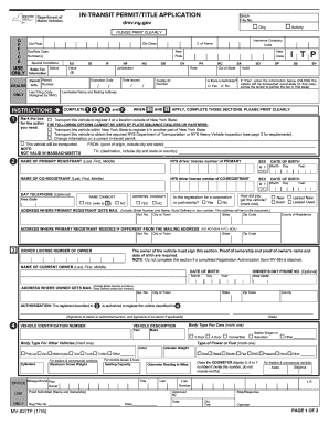 Form Mv82 Intransit Permit - Fill Online, Printable, Fillable ...