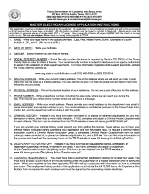 registered master electrician application form