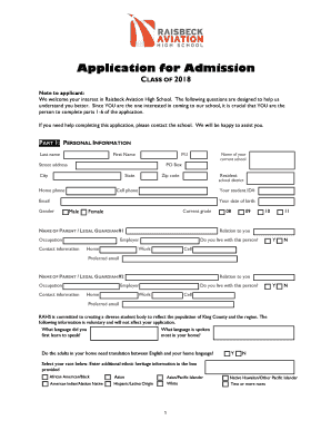 RAHS Admissions Application - Highline Public Schools - highlineschools