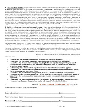 Eyelash Consent Form Pdf Filler - Fill Online, Printable, Fillable ...