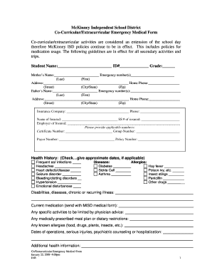 School medical form fill online printable fillable blank school medical form altavistaventures Choice Image
