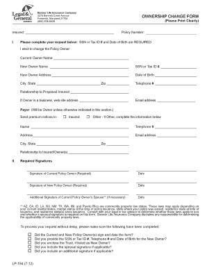 optus change of ownership pdf