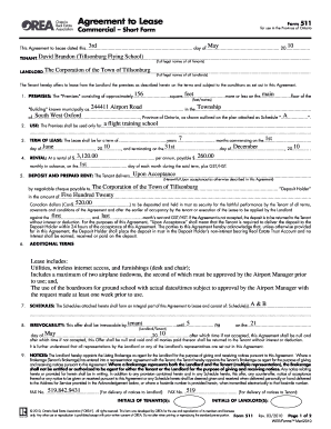 10 Printable Lease Agreement Orea Forms And Templates