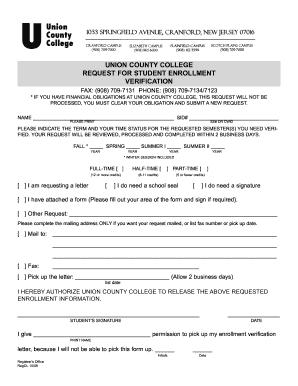 Fillable Online ucc Download the Verification of Enrollment Form ...