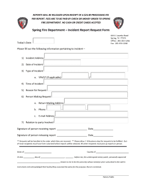 11 printable blank police report document forms and for Fire department incident report template