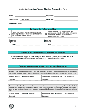 Fillable Online Supervision Forms (PDF) - CPS HR Consulting