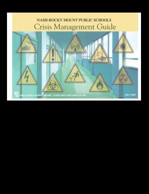 Fillable Online NRMPS Crisis Management Guide - Nash-Rocky
