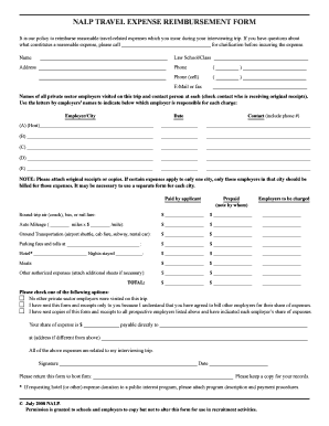 nalp reimbursement form