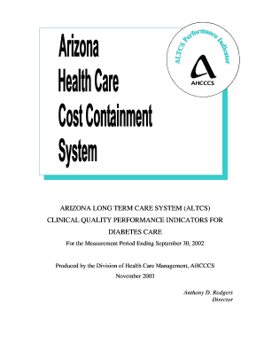 Fillable Online hpm umn Arizona Health Care Cost Containment System on