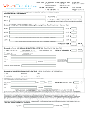 Fillable Online visacenter Cameroon visa application forms ...