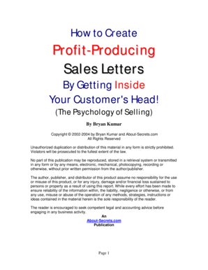 How to Create Profit-Producing Sales Letters By Getting ... - Cure Zone