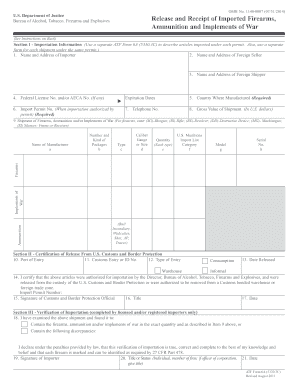 photo about Printable Firearm Log named Atf Style 6a - Fill On the web, Printable, Fillable, Blank
