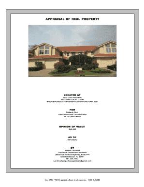 fillable online individual condominium unit appraisal report pcv