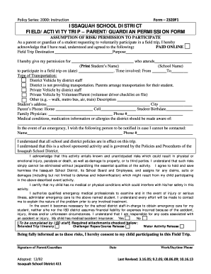 2320F1 Field-Activity Trip Parent-Guardian Permission Form.pdf - issaquah wednet