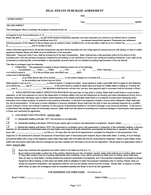 Bloomington-Normal Assoc. of Realtors Purchase Agreement