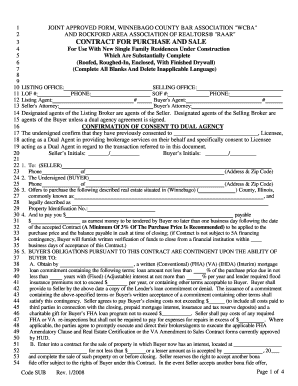 Offer To Purchase Real Estate Form Winnebago County Illinois