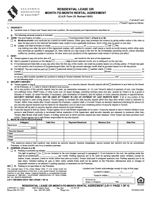 12 Month Lease House Agreement - Fill Online, Printable, Fillable ...