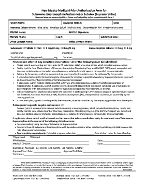 Fillable Online New Mexico Medicaid Prior Authorization Form ...
