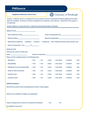 Filled Employee Reference Check Form - Fill Online, Printable ...