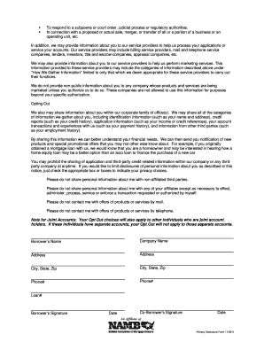 Privacy Policy Disclosure - Fill Online, Printable ...