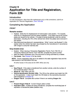Oregon Dmv 735 226 - Fill Online, Printable, Fillable, Blank ...