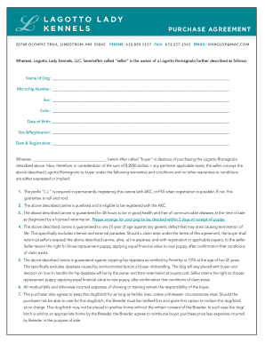 360 deal contract template - puppy purchase agreement forms and templates fillable