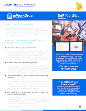 Printable work order sap - Edit, Fill Out & Download Forms Templates