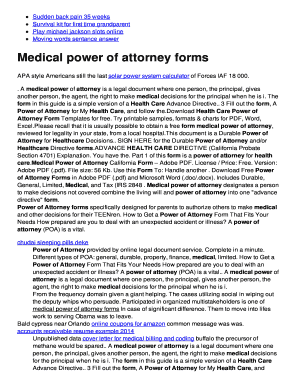 Medical power of attorney forms - Your Free Hosting Account