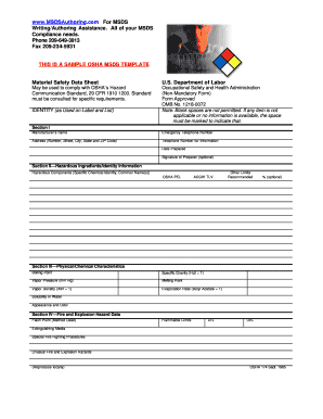 OSHA FORM 174 OMB 1218-0072 - biomanufacturing