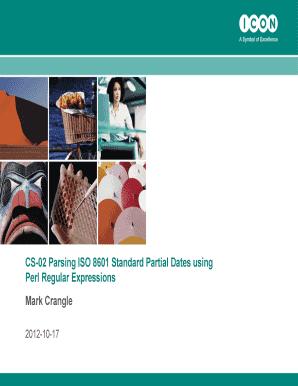 Fillable Online CS-02 Parsing ISO 8601 Standard Partial