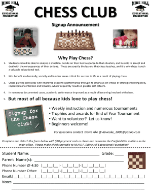 Chess Club Sign Up Sheet.pdf   MHEF   Mhef  Club Sign In Sheet Template