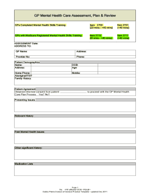 Fillable mental health care plan template download - Edit ...