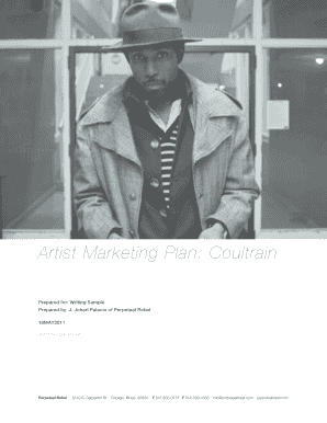Artist Marketing Plan-Coultrain Writing Sample