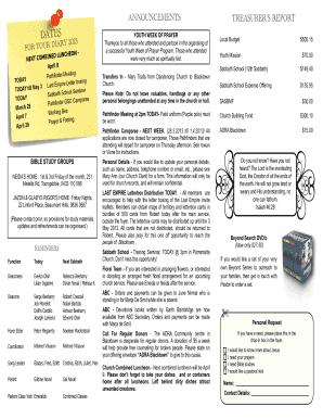 fillable online blacktown adventist org bulletin template