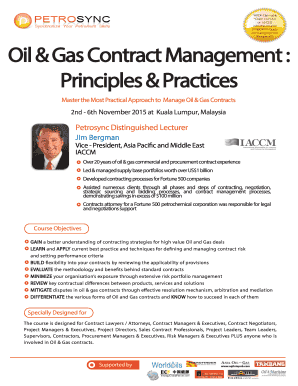 oil and gas contract management Fillable Online PETROSYNC Oil and Gas Contract Management by Jim ...