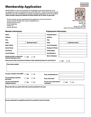 Employee Information Form   Hanson Rod And Gun Club