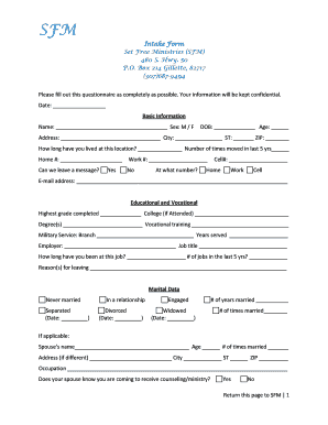 Intake Form - Family Life Church - familylifechurchgillette