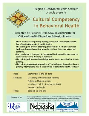 Fillable Online region3 Cultural Competency Brochure